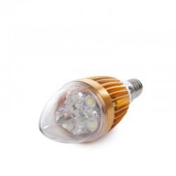 Bombilla de LEDs Vela E14 5W 12VAC/Dc 400Lm 30.000H