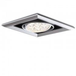 Foco Downlight  LED Cuadrado 7W 700Lm 30.000H
