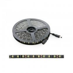 Tira LED 300 X SMD5050 12VDC IP65 Pcb Negro x 5M