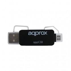ADAPTADOR MICRO SD/SD/MMC A USB/MICRO USB APPROX LECTOR MIC