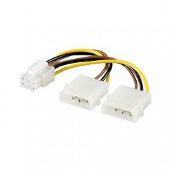 CABLE ALIMENTACION VGA AUXILIAR 2x5.25 A PCIE 6PIN