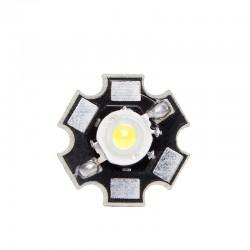 LED High Power 35X35 con Disipador 1W 120Lm 50.000H