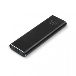 CAJA EXTERNA PARA SSD 1LIFE M.2 USB-C LED NEGRA