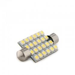 Bombilla de LEDs Festoon Canbus 24 X SMD3528 42Mm