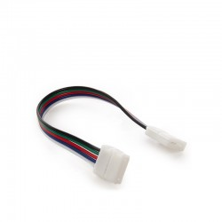 Conector Tira LED RGBw Doble con Cable