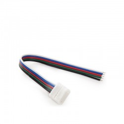 Conector Tira LED RGBw Simple con Cable