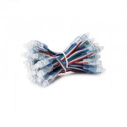 Pixel LED 12Mm 0,3W 5V Epistar RGB (Cadena 50 Unidades)