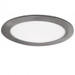 Placa de LEDs Circular Ø170Mm 12W 860Lm 50.000H Niquel Satinado