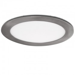 Placa de LEDs Circular Ø225Mm 18W 1300Lm 50.000H Niquel Satinado