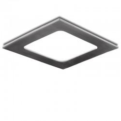 Placa de LEDs Cuadrada 120X120 Mm 6W 480Lm 50.000H Niquel Satinado