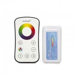 Controlador 3 Zonas 2,4G Tira RGB Mando a Distancia 12-24VDC ► 144/288W