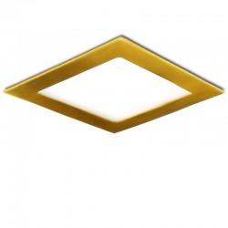 Placa de LEDs Cuadrada 170X170Mm 12W 860Lm 50.000H Dorado