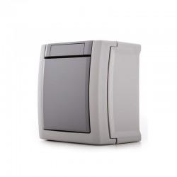 Interruptor Panasonic Pacific 10A 250V IP54 Gris