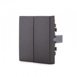 Tecla Partida Panasonic Novella Interruptor/Conmutador Doble, Color Fume (Compatible Karre)