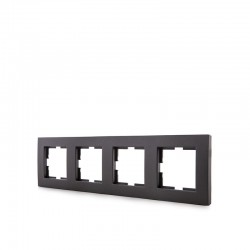 Marco Panasonic Novella 4 Elementos Horizontal/Vertical , Tecnopolímero, Fume (Compatible Mecanismo Karre)