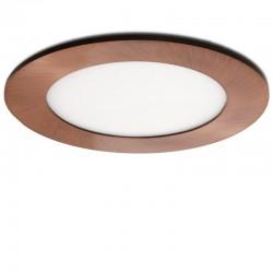 Placa de LEDs Circular Ø120Mm 6W 480Lm 50.000H Bronce