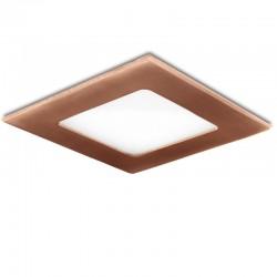 Placa de LEDs Cuadrada 120X120 Mm 6W 480Lm 50.000H Bronce