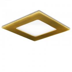 Placa de LEDs Cuadrada 120X120 Mm 6W 480Lm 50.000H Dorado