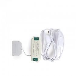 Driver Mini LED 220VAC/12VDC 15W Cajetín 6 Vías