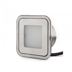 Foco LED Empotrar IP67 0,6W 60Lm 12VDC Cable 1M/Ector Macho 50.000H Arabella