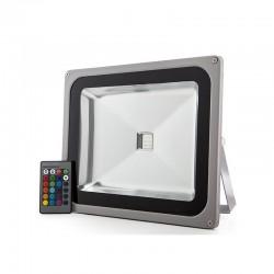 Foco Proyector LED IP65 50W RGB Mando a Distancia