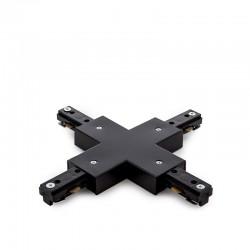 Conector X Carril Bifásico Negro