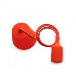 Portalámparas E27 Cable - Rosetón Naranja