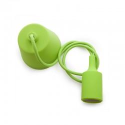 Portalámparas E27 Cable - Rosetón - Color Verde