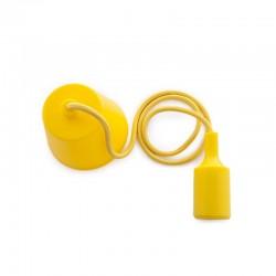 Portalámparas E27 Cable - Rosetón - Color Amarillo