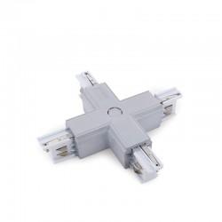 Conector + Carril Trifásico Plata