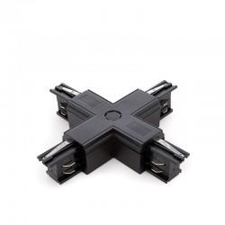 Conector + Carril Trifásico Negro