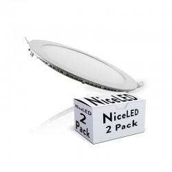 Pack 2 Placa de LEDs Color Plata 225M 18W 1350Lm 30.000H
