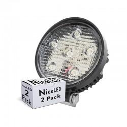 Pack 2 Foco LED 18W 9-33VDC IP68 Automóviles/Náutica Blanco Frío