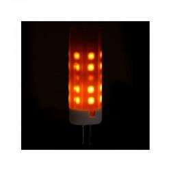 Bombilla LED Efecto Llama G4 2W 25000H