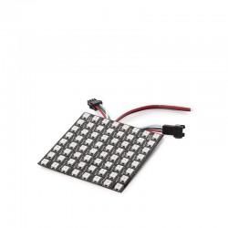 Pantalla Pixel LED 8X8Cm 64 Pîxels 5VDC 19,5W IP30 RGB