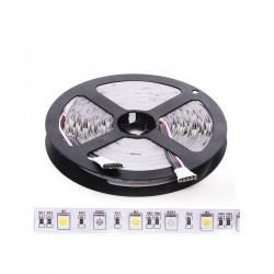 Tira LED 300 LEDs 60W SMD5050 24VDC IP20 RGB+Blanco x 5M