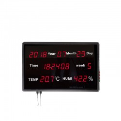 Panel Display LED Hora/Fecha/Semana/Temperatura/Humedad