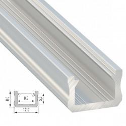 Perfíl Aluminio Tipo X 2,02M