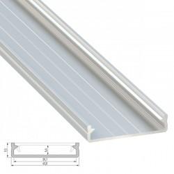 Perfil Aluminio Tipo SOLIS 2,02M