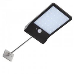 Aplique de Pared LED Solar IP65 36x2835SMD Sensor Luz + Movimiento Soporte