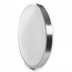 Plafón LED 15W 80Lm/W Plata Sensor Microoondas