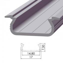 Perfíl Aluminio Tipo ECO P02 1,00M