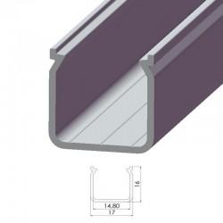 Perfíl Aluminio Tipo ECO P04 1,00M