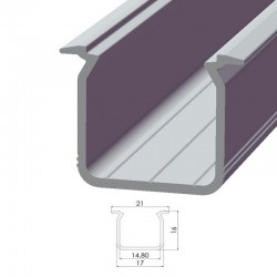 Perfíl Aluminio Tipo ECO P05 2,02M