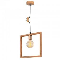 "Lámpara Colgante de madera \""Magnesia\"" Nogal 1 x E 27 Sin Bombilla [OPV-525NOR1340]"