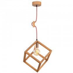 """Lámpara Colgante de madera \""""Magnesia\"""" Cobre 1 x E 27 Sin Bombilla [OPV-525NOR1355]"""