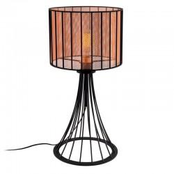 """Lámpara de Mesa de estilo moderno \""""Fellini\"""" Negro/Cobre 1 x E 27 Sin Bombilla [OPV-527ABY2177]"""