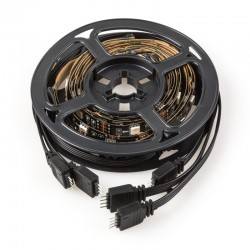Kit Tira LED USB TV 5VDC 4 x 0,5M RGB Mando Distancia [CA-TL-USB-RGB]