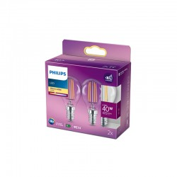 Pack 2 Bombilla LED Philips E14 P45  4.3W 470Lm 2700K [PH-929001890467]