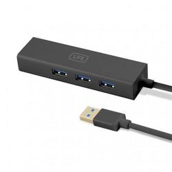 HUB 3 PUERTOS USB3.0+ RJ45 1LIFE NEGRO